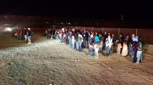llegan migrantes a Sunalnd Park, NM