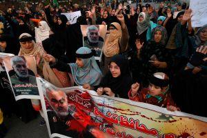 Protesta contra EEUU por muerte de Soleimani